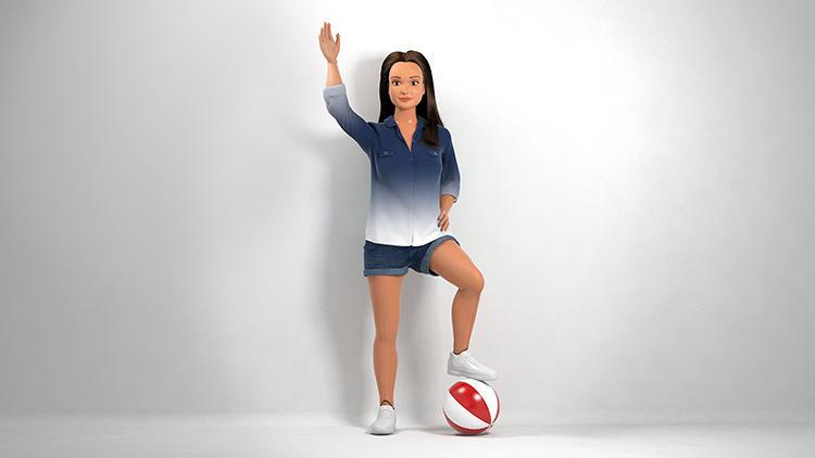 Barbie met een bibs