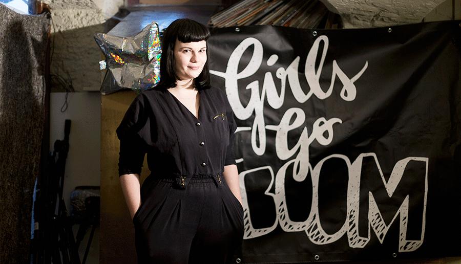 Een nieuwe generatie punkers zet meisjes op het podium